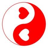 yin yang влюбленности Стоковое Фото