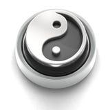 yin yang иконы кнопки Стоковая Фотография