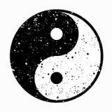 yin yang Иллюстрация черно-белого значка Ying и Yang иллюстрация штока