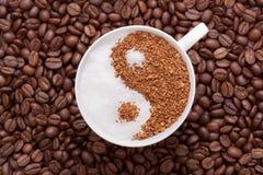 yin yang кофе стоковые изображения rf