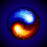 yin yang символа Стоковые Изображения RF