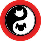 yin yang собаки кота Стоковое Изображение RF
