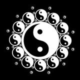 yin yang цветка Стоковые Фото
