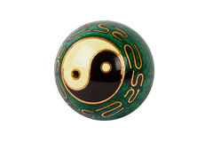 yin yang шарика старое Стоковая Фотография