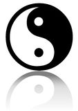 Yin yang. In white background eps Stock Images