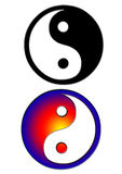 Yin yang. Two yin yang in white background eps Royalty Free Stock Image