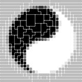yin yang символа Стоковое Изображение RF