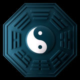 Yin and Yang. The emblem of Yin and Yang. White and Black Stock Photo