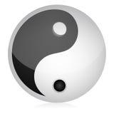 Yin yang ilustração royalty free