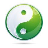 Yin yang. Illustration of yin yang on white background Royalty Free Stock Photo