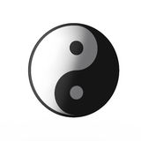 Yin Yang. 3d render of yin yang icon isolated on white Stock Image