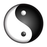 Yin Yang. Vector isolated symbol Stock Photos