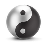 Yin yang. Sign yin yang. 3d image. White background Stock Image