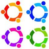 Yin and yang. Logos in several colors Stock Photos