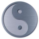 Yin Yang. Brushed metal Yin Yang symbol Royalty Free Stock Photo