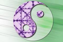 Стилизованный символ Yin Yang в цвете Стоковое Фото