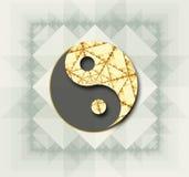 Стилизованный символ Yin Yang в цвете Стоковое фото RF