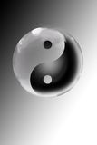 Yin yang. An icon of the yin and yang stock images