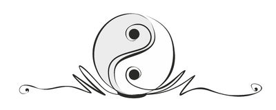 Yin and yang. Abstract yin and yang sign as decorative element Royalty Free Stock Photography