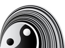 Yin and yang background. Vector illustration Royalty Free Stock Photo