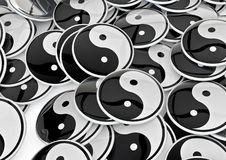 Yin yang badges Royalty Free Stock Photography