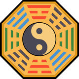 Yin Yang and bagua Royalty Free Stock Images