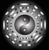 Yin Yang and bagua Stock Photography