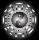 Yin Yang and bagua. Vector Yin Yang and bagua illustration Stock Photography