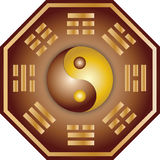 Yin Yang and bagua stock illustration