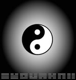 Yin Yang and bagua Stock Photo