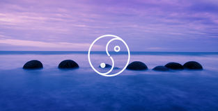 Yin Yang Balance Contrast Opposite Religion Culture Concept Royalty Free Stock Photos