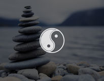 Yin Yang Balance Contrast Opposite Religion Culture Concept Royalty Free Stock Image