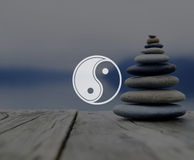Yin Yang Balance Contrast Opposite Religion Culture Concept Stock Photography