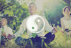 Yin Yang Balance Contrast Opposite Religions-Kultur-Konzept Lizenzfreies Stockfoto