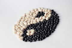 Yin and yang beans Stock Photos