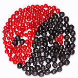 Yin yang of berries Royalty Free Stock Image