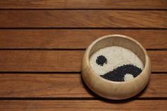 Yin Yang Sesame Royalty Free Stock Images