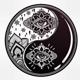 Yin and Yang boho symbol. Stock Photography