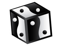 Yin and yang box Royalty Free Stock Photo