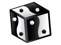 Yin and yang box. Isoated on white background vector illustration Royalty Free Stock Photo