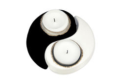Yin Yang candles Stock Photos