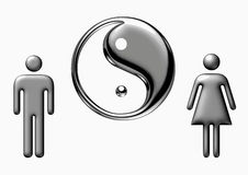 Yin and Yang, Chinese philosophy Royalty Free Stock Image