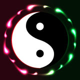 Yin Yang circle bright Royalty Free Stock Photography