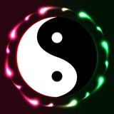 Yin Yang circle bright Royalty Free Stock Photography
