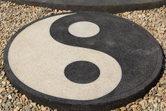 Yin Yang circle in Chinese philosophy Royalty Free Stock Image