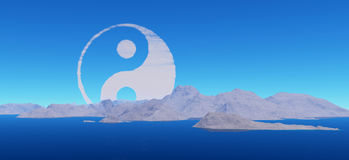 Yin-Yang cloud Royalty Free Stock Image