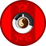 Yin yang coffee stock images