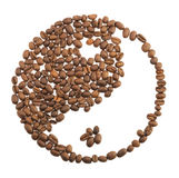 Yin yang of coffee beans Stock Photography