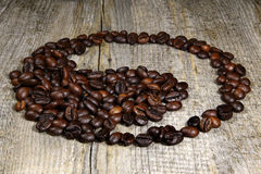 Yin - yang of the coffee beans Stock Image
