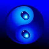 Yin yang com gotas da água Imagens de Stock